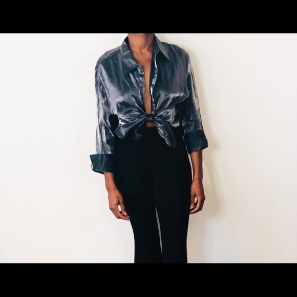 Tops - Vintage Holographic Blouse